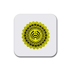 Bassnectar Sunflower Rubber Coaster (square)