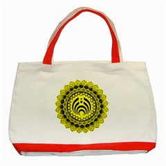 Bassnectar Sunflower Classic Tote Bag (red)