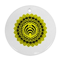 Bassnectar Sunflower Round Ornament (two Sides)