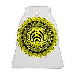 Bassnectar Sunflower Bell Ornament (two Sides)