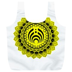 Bassnectar Sunflower Full Print Recycle Bags (l)