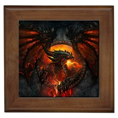Dragon Legend Art Fire Digital Fantasy Framed Tiles