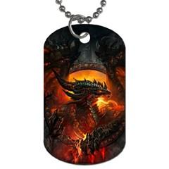 Dragon Legend Art Fire Digital Fantasy Dog Tag (two Sides)