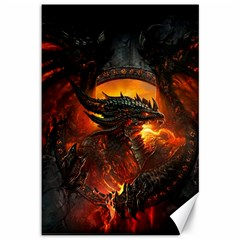 Dragon Legend Art Fire Digital Fantasy Canvas 12  X 18