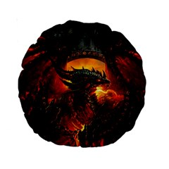 Dragon Legend Art Fire Digital Fantasy Standard 15  Premium Round Cushions