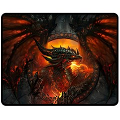 Dragon Legend Art Fire Digital Fantasy Double Sided Fleece Blanket (medium)