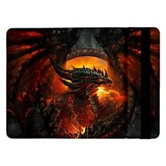Dragon Legend Art Fire Digital Fantasy Samsung Galaxy Tab Pro 12 2  Flip Case