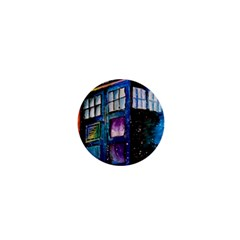 Dr Who Tardis Painting 1  Mini Buttons