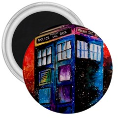 Dr Who Tardis Painting 3  Magnets