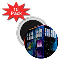 Dr Who Tardis Painting 1 75  Magnets (10 Pack)