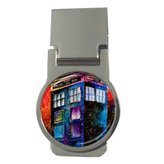 Dr Who Tardis Painting Money Clips (round)