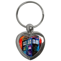 Dr Who Tardis Painting Key Chains (heart)
