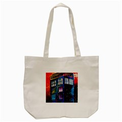 Dr Who Tardis Painting Tote Bag (cream)