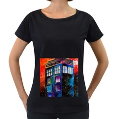 Dr Who Tardis Painting Women s Loose Fit T Shirt (black)