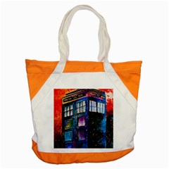 Dr Who Tardis Painting Accent Tote Bag