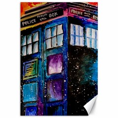 Dr Who Tardis Painting Canvas 12  X 18