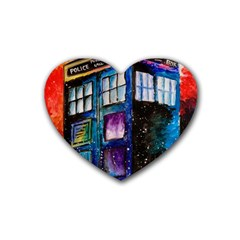 Dr Who Tardis Painting Heart Coaster (4 Pack)