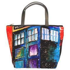 Dr Who Tardis Painting Bucket Bags