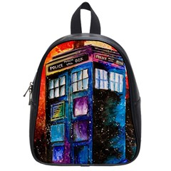 Dr Who Tardis Painting School Bag (small)