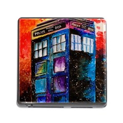 Dr Who Tardis Painting Memory Card Reader (square)