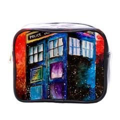 Dr Who Tardis Painting Mini Toiletries Bags