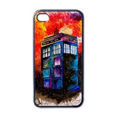 Dr Who Tardis Painting Apple Iphone 4 Case (black)
