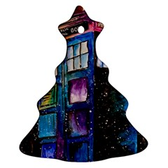 Dr Who Tardis Painting Ornament (christmas Tree)