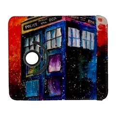 Dr Who Tardis Painting Galaxy S3 (flip/folio)
