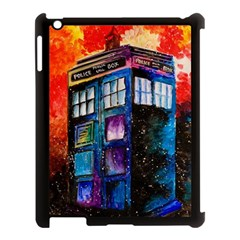 Dr Who Tardis Painting Apple Ipad 3/4 Case (black)