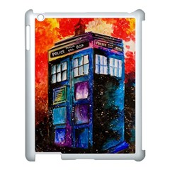 Dr Who Tardis Painting Apple Ipad 3/4 Case (white)