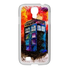 Dr Who Tardis Painting Samsung Galaxy S4 I9500/ I9505 Case (white)