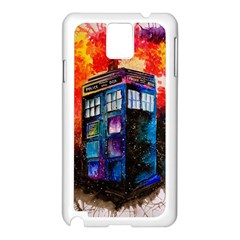 Dr Who Tardis Painting Samsung Galaxy Note 3 N9005 Case (white)