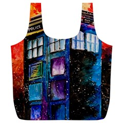 Dr Who Tardis Painting Full Print Recycle Bags (l)