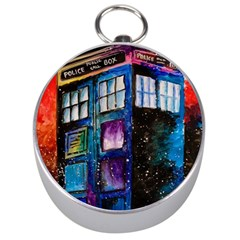 Dr Who Tardis Painting Silver Compasses