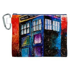 Dr Who Tardis Painting Canvas Cosmetic Bag (xxl)