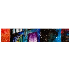 Dr Who Tardis Painting Small Flano Scarf