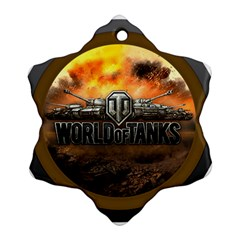World Of Tanks Wot Snowflake Ornament (two Sides)