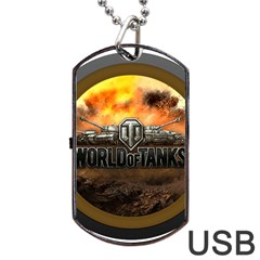 World Of Tanks Wot Dog Tag Usb Flash (one Side)