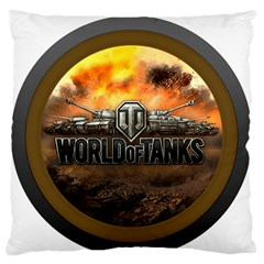 World Of Tanks Wot Large Flano Cushion Case (one Side)