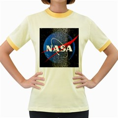 Nasa Logo Women s Fitted Ringer T Shirts
