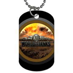 World Of Tanks Wot Dog Tag (one Side)