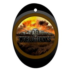 World Of Tanks Wot Oval Ornament (two Sides)