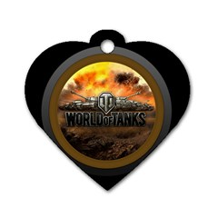 World Of Tanks Wot Dog Tag Heart (one Side)