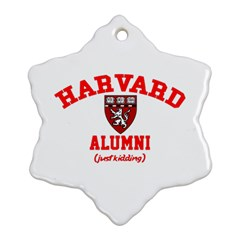 Harvard Alumni Just Kidding Snowflake Ornament (two Sides)