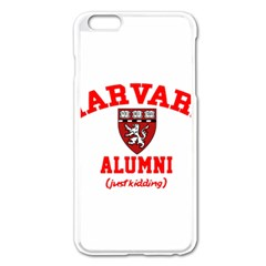 Harvard Alumni Just Kidding Apple Iphone 6 Plus/6s Plus Enamel White Case