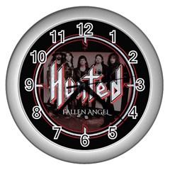 Fallen Angel Hunted Wall Clocks (silver)
