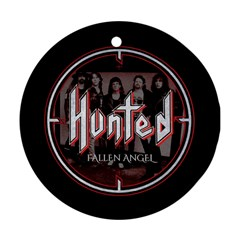 Fallen Angel Hunted Round Ornament (two Sides)