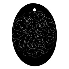 Band Of Horses Oval Ornament (two Sides)