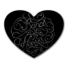 Band Of Horses Heart Mousepads