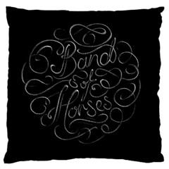 Band Of Horses Large Cushion Case (one Side)